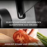 ZWILLING Selbstschärfender Messerblock, 7 teilig, grau, Vier Sterne - 4