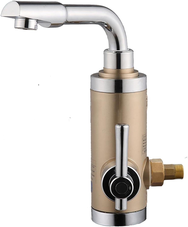 Faucet Kevin Sofortiger heier Hahn-Sofort-Wasser-Heizung-Küche-heies Wasser-Hahn-Behlter-Heater 3000w Digital-Anzeige, Gold