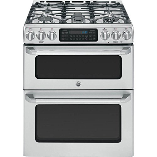 GE Cafe CGS990SETSS 30' Freestanding Gas Range with 5 Sealed Burners, Convection Self-Clean Double Oven and Griddle, in Stainless Steel