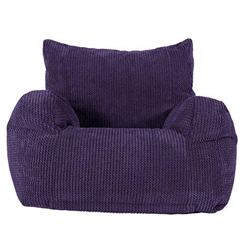 Lounge Pug®, Sitzsack Ohrensessel, Pom-Pom Lila