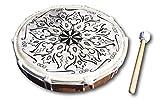 tamburo a mano sciamanico con battitore fatto a mano a bali con pelle naturale