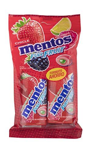 Mentos Chicle Frutas Silvestres, Sin Azúcar - 2 unidades de 30 gr. (Total 60 gr.)