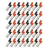 uxcell 電気バッテリークロコダイルクランプ ワニ口クリップ テストクランプ コネクタ 回路試験 10A 20個入り