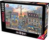 Anatolian 3000Piece Jigsaw Puzzle - Streets of Paris Jigsaw Puzzle, Brown/a (ANA4910)
