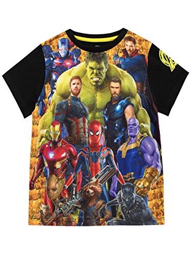 Marvel Camiseta de vengadores para niños 12-13 años Multicolor