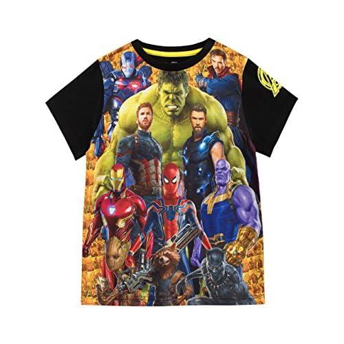 Marvel Maglietta a Maniche Corta per Ragazzi Avengers Multicolore 5-6 Anni