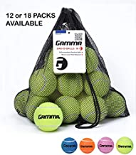 Gamma Bag of Pressureless Tennis Balls - Sturdy & Reuseable Mesh Bag with Drawstring for Easy Transport - Bag-O-Balls (18-Pack of Balls, Yellow) (Renewed)