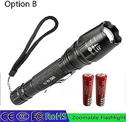 Option B : 1064 LED Lampe torche 5000 lumens XM-L