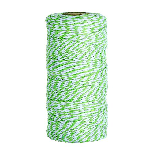 eBoot Cotton Kitchen Twine, Cooking String, Bakers Twines for Arts Crafts and Gift Wrapping, 328 Feet (Green)