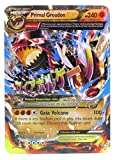 New Mega Cards New Set of Primal Groudon Mega EX 86/160 Flash Cards Standard English Cards 2.5' x 3.5' Come with Random 2 GX and 2 GX Cards in Plastic Box Case