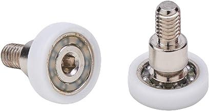 Almohadillas mampara de ducha Ruedas de bola de repuesto de acero para puertas de ducha A deslizamiento juego de 2/unidades ec-3308/