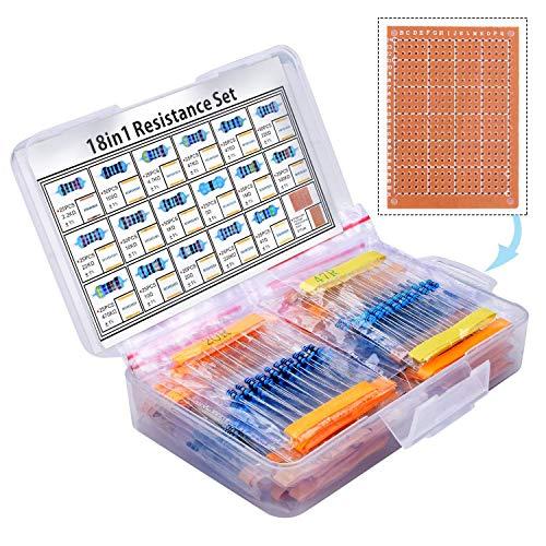 kuman 525 Pezzi Kit resistore 17 Valori 1% Assortimento, 0 Ohm-1M Ohm per R3 e Altri progetti di Elettronica per ArduinoIDE Raspberry pi 4 3B+ K78
