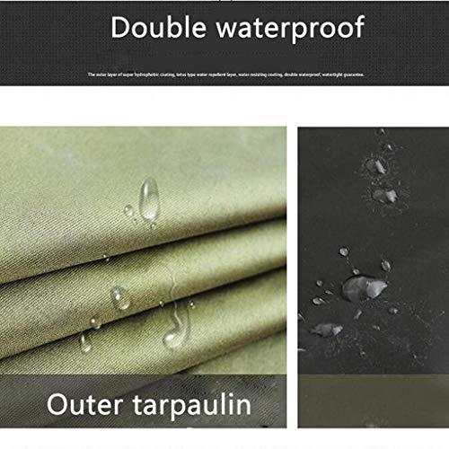 AFDK Regenmantel, Adult Canvas Long Section mit Gummiregenmantel zum Erhöhen der Verdickung (Militärgrün)