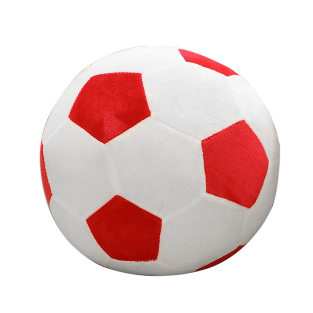 Lamdoo - Pelota de peluche de 25 cm con forma de balón de fútbol ...