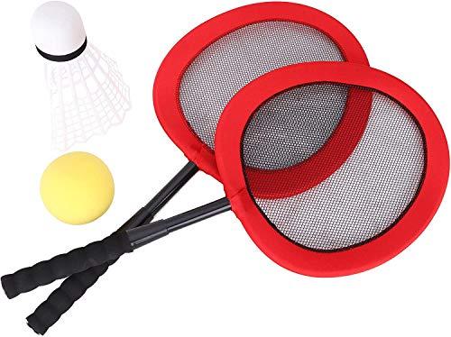 Toyland 65cm Jumbo Tennis & Badminton Set - 2 Riesenschläger mit Riesen Federball & Riesen Tennisball