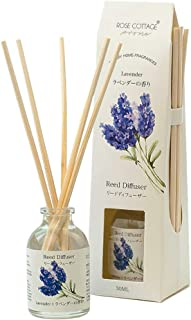 Rose Cottage Lavender Reed Diffuser 30ml Scented Sticks Oil Diffuser Room Fragrance Aroma for Home and Office
