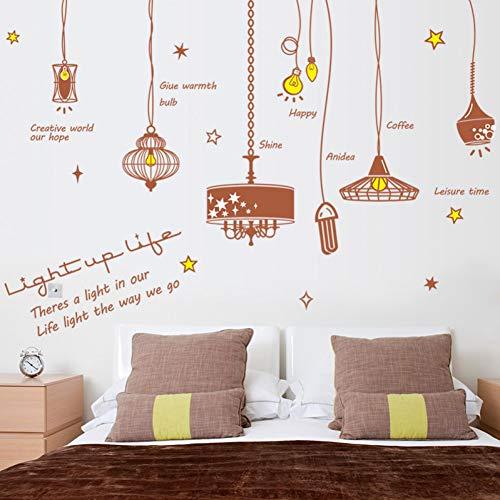 Taoyue Afneembare lamp voor woonkamer, meubels, slaapkamer, kast, muurkunst, vinyl, muursticker, om zelf te maken