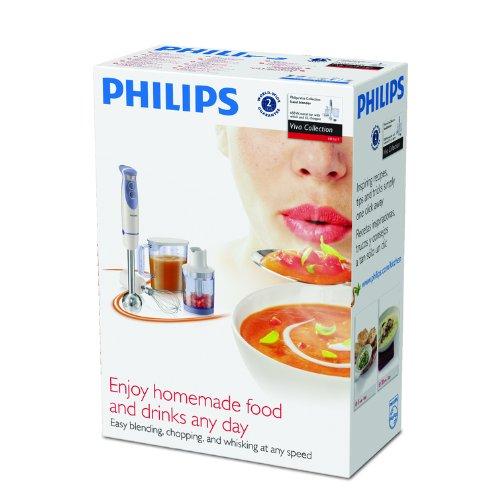 Philips HR1617/01 650 Watt Batidora con Picadora/Batidor/1.7 ...