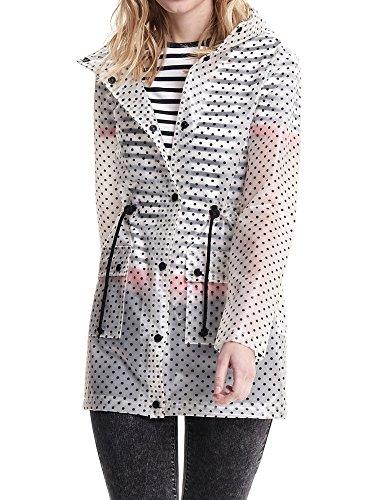 ONLY Damen onlKELLY Water Resistant Coat OTW Regenmantel, Mehrfarbig (Black AOP: Dot), 34 (Herstellergröße: XS)