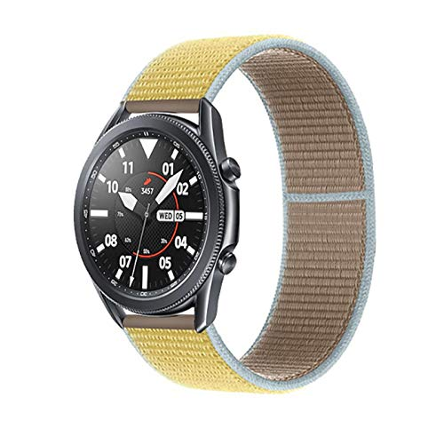 YGGFA 20 22mm Watch Band for Gear S3 Frontier Strap Galaxy Watch 3 45mm 41mm 46 Active 2 44mm 40mm Nylon para Huawei Watch GT2E / 2 Strap 42 (Band Color : Camel 48, Band Width : 22mm)