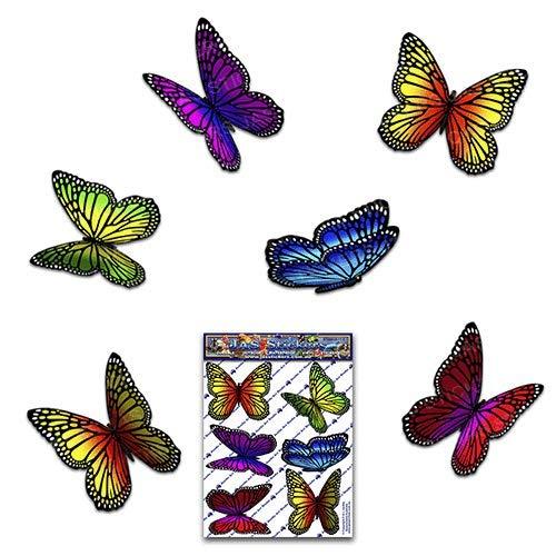 JAS Stickers® Schmetterling Tier Auto Aufkleber - Mehrfarbig - Monarch Klein Vinyl Aufkleber pack für Laptop Gepäck Fahrrad Caravans Van Wohnmobile LKW-Boote - ST00028MC_SML