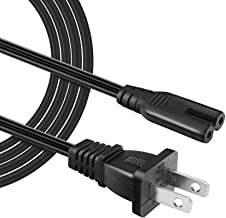 IBERLS【 UL Listed】 18 AWG 5ft Long Cable 2 Prong Power Cord for HP Envy/OfficeJet, Canon Pixma/Maxify, Epson Stylus/Workforce/Expression Premium/Artisan, Brother, Dymo LabelWriter ect.