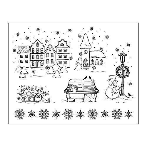 Viva Decor Timbre pour l'artisanat en Papier Ville de Noël - Artisanat, estampage, Fabrication de Cartes, Scrapbooking, différents Motifs