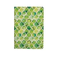 水彩 PUレザー 第4世代 iPad 10.9ケース ブック型 緑の色調でモロッコトレリスパターン水彩ヴィンテージアートワーク スタンド機能 オートスリープ機能付き ース ライムグリーンイエローホワイト