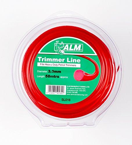 Inconnu Tondeuse Ligne : 3.0 mm 60 m s'adapte à Toutes Les Marques du Heavy Duty Coupe-Bordures à Essence (36–39 CC) Contient 60 metres Rouge ALM : Universel