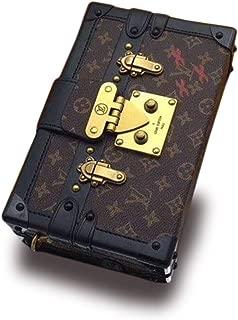 Fashion Petite Malle Leather Removable Classic Monogram Canvas Handbag