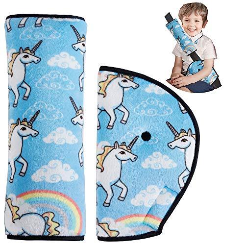 Oreiller Amovible+Voiture Ceinture de S/écurit/é+ Coussinets dEpaule URAQT Coussin Ceinture Securite Enfant ceinture de securite enfant de Voiture pour les Enfants Prot/éger Cou//Epaules Noir