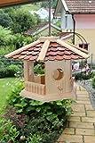 Vogelhaus-Vogelhäuser--sechs eck -Vogelfutterhaus Vogelhäuschen-aus Holz-Schreinerarbeit
