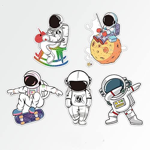 BUCUO Astronauta de Dibujos Animados Personalidad Pegatina Espacio cósmico Maleta Maleta portátil Impermeable