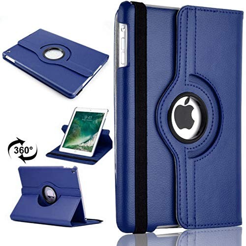 360 Leather Rotate Stand Case Folio Cover For Apple iPad Air (2013) (Blue)