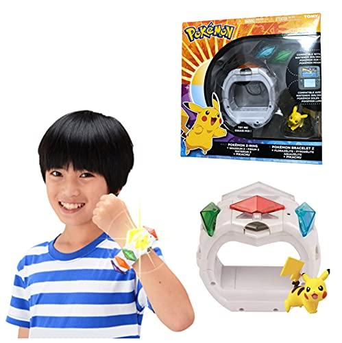 Pokemon Box Sun Moon Game Linkage 4D Somatosensorial Z Pulsera Z Crystal Battle Pikachu Figura De Acción Modelo Juguetes Regalo para Niños
