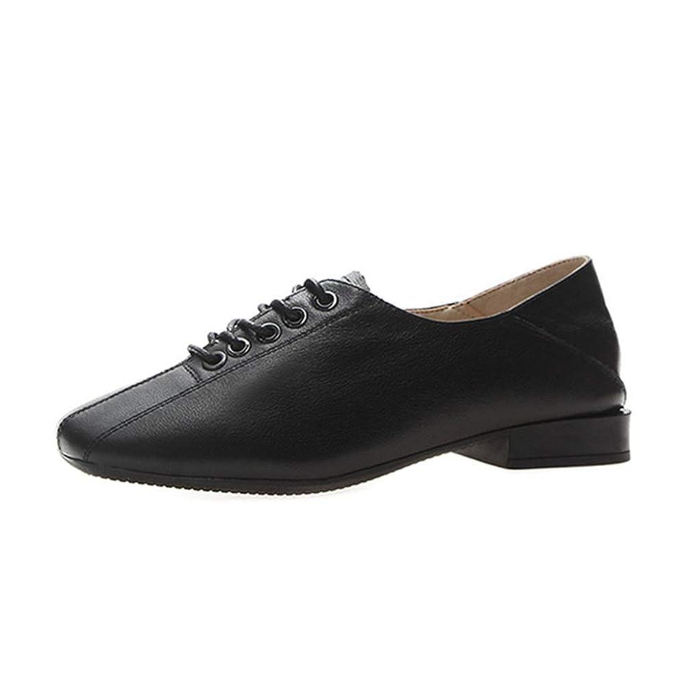 一口パイプライン出費[ツネユウシューズ] スクエアトゥ 本革 オックスフォード レディース レースアップ 2way 太ヒール 黒 フラット 美脚 学生 痛くない 革靴 コンフォート 履きやすい 歩きやすい おじ靴 滑りにくい マニッシュ