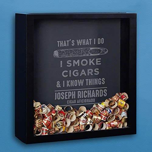 HomeWetBar I Know Things Custom Shadow Box for Cigar Bands (Personalized Product)