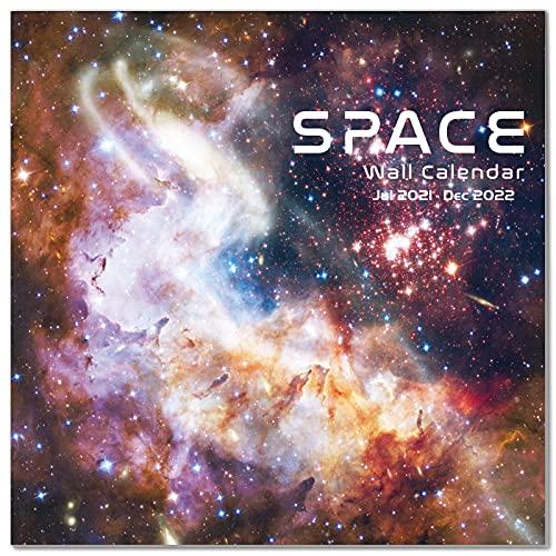 2021-2022 Calendar - Monthly Wall Calendar 2021-2022, Jul 2021 - Dec 2022, 12'×24' (Open), Wall Calendar with Julian Date, Thick Paper, Perfect Calendar for Organizing & Planning