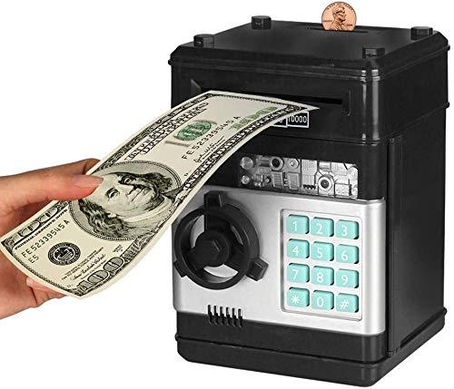Digital Kids Piggy Bank for Boys, Gifts for Kids Toy Electronic ATM Bank, Money Safe for Kids (Black)