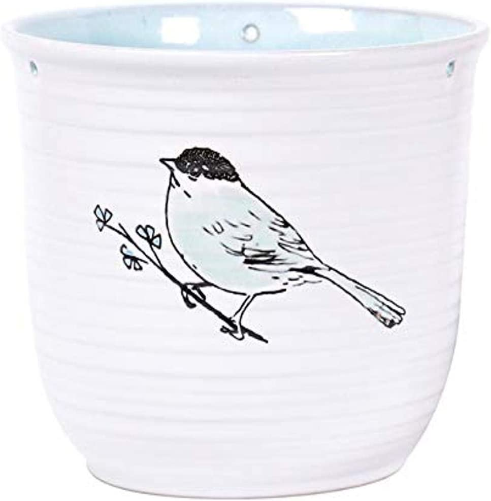 Blue Sky Ceramic Hanging Emma Bird Multi Pot Color 6.5