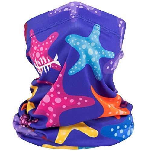 BASSDASH Kids' UPF 50+ UV Protection Neck Gaiter Fishing Cycling Mask 3-13 Years
