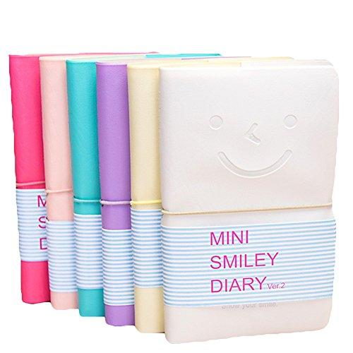 toruiwa cuaderno bloc mini agenda color Kawaii con protectora blanda para regalos, viajes, Ecriture, esbozo color aleatorio