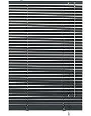 Deco Company - Persiana de Aluminio con Pinzas (115 x 175 cm), Color Pizarra