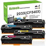 Aztech 4 pezzi Toner Compatibile per HP 203X CF540X HP 203A CF540A Toner per HP Color LaserJet Pro MFP M281FDW MFP M281FDN HP M280NW HP M254DW M254NW MFP M281cdw M281 M254 M280 Stampante Multifunzione