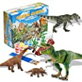 JSLIN 64Pcs Dinosaur Kids Crafts Arts Supplies Set Painting Kit for Kids DIY Arts Dinosaur Toy Decorate Your Own Dinosaur Toys for Kids Boys Girls Crafts for Kids Ages 4-8