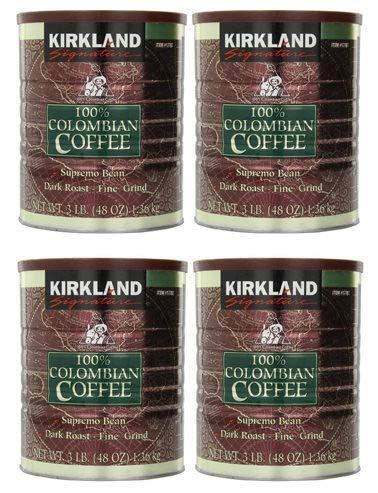 IUDUH 100% Colombian Coffee Supremo Bean Dark Roast-Fine Grind,Signature-ykgj ,3 Pound (Pack of 4)