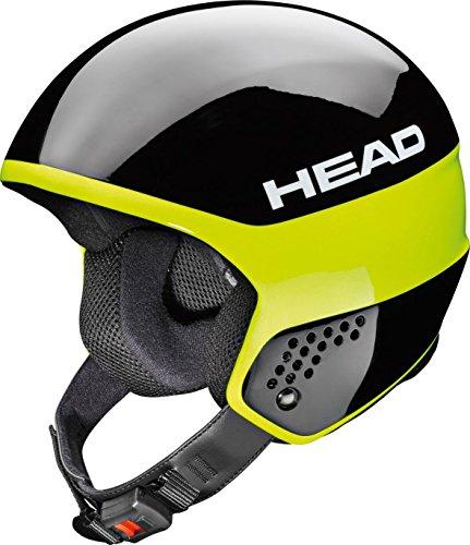 Head Stivot Race Carbon–Casco da Sci, Unisex, Stivot Race Carbon, Nero Lime, 60-61 cm