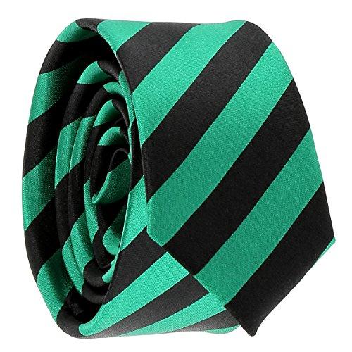 Cravate Rayures Larges Verte et Noire - Cravate rayée