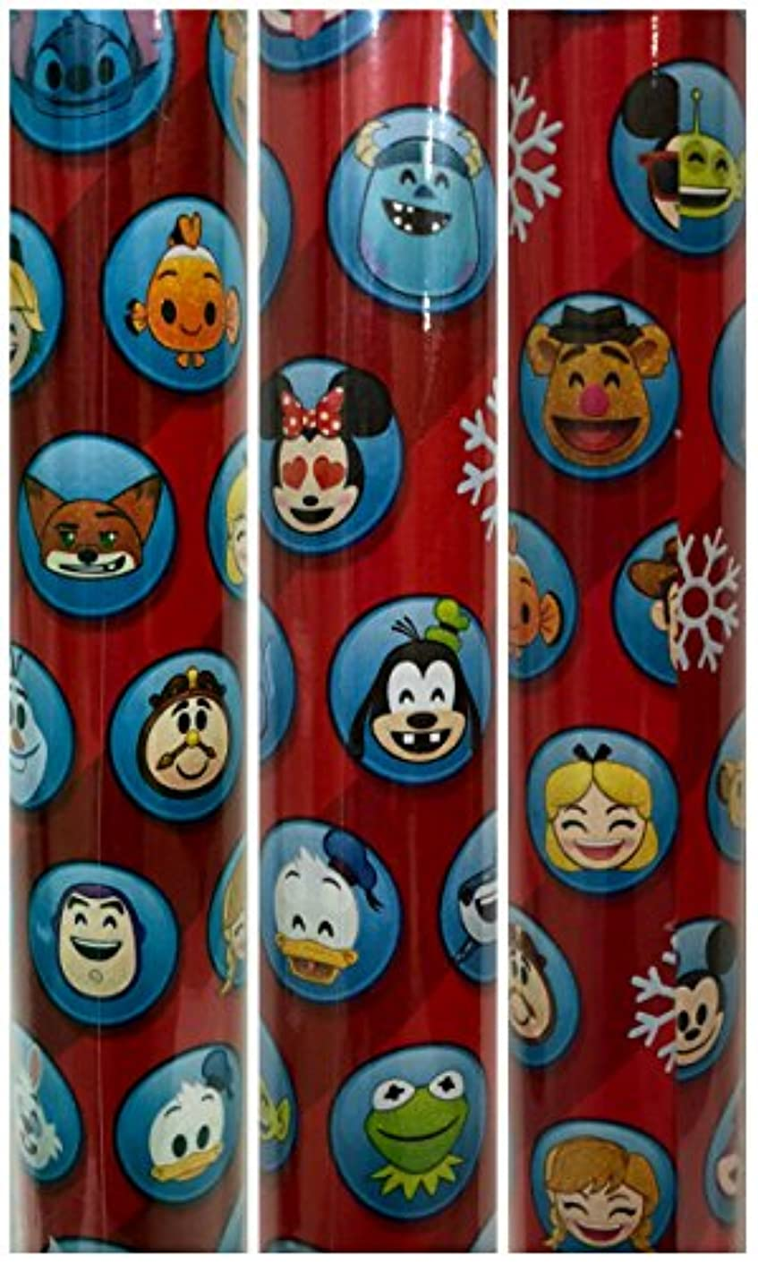 Disney Movie Characters Christmas Gift Wrapping Paper 40 sq ft 1 Roll