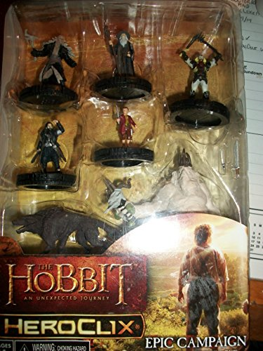 Neca Wizkids HeroClix - The Hobbit: UJ An Unexpected Journey - Epic Campaign Starter Set